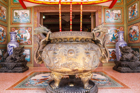 Incense burner in Chinese temple in Thailand
