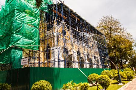 bang pa in: Renovation of Wat Niwet Thammapravat in thailand