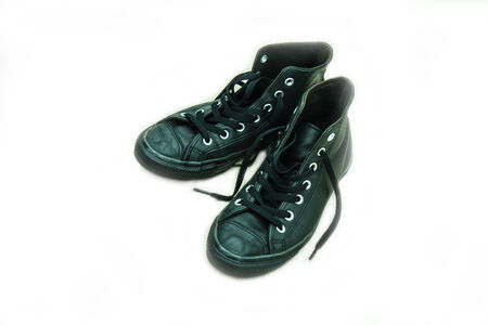 Black sneakers photo