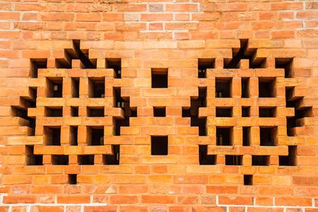 vents: Vents brick wall Stock Photo