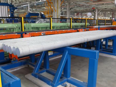 brass rod: Aluminum rods Stock Photo