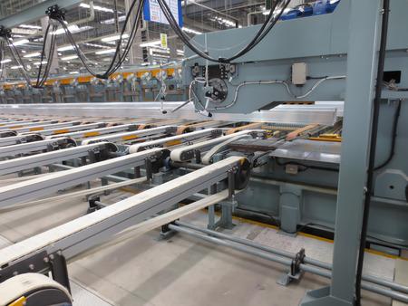 stretch machine in factory Editoriali