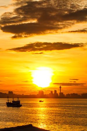 Sunrise on Koh Larn, Pattaya Chonburi Thailand photo