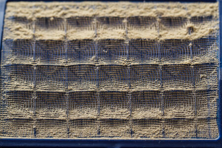 very dirty: Dust filters are very dirty. Stock Photo