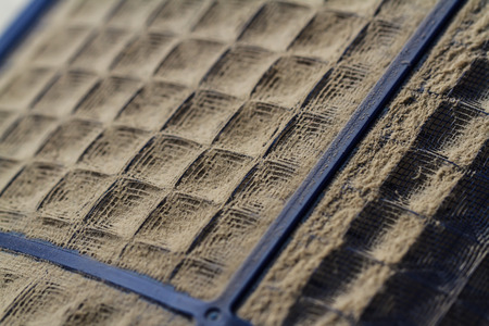 car service: Dust filters are very dirty. Stock Photo