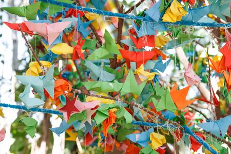 folding: Birds of paper folding Stock Photo