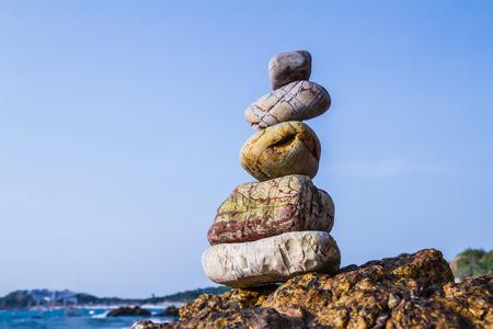 rocks on the coast of the Sea in the nature Archivio Fotografico