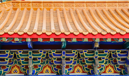 lengnoeiyi: Traditional Chinese style temple at Wat Leng-Noei-Yi in Nonthaburi,Thailand Editorial