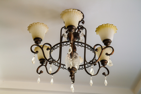 light fixture: lamp metal ceiling light fixture