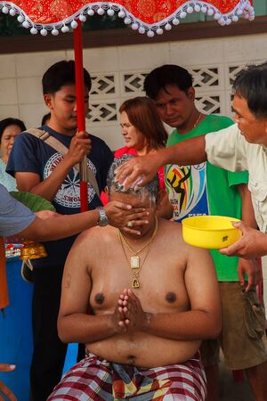 initiation: Bangkok March 1: a series of initiation rites that have changed to the new man at the temple Thailand, Bangkok, Thailand on March 1, 2015. Editorial