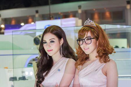 demonstrated: Bangkok, Thailand - April 4, 2015: Volkswagen booth. Presenter demonstrated in 36 Bangkok International Motor Show on April 4, 2015.