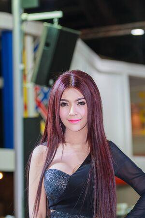 demonstrated: Bangkok, Thailand - April 4, 2015: Gopro booth. Presenter demonstrated in 36 Bangkok International Motor Show on April 4, 2015. Editorial