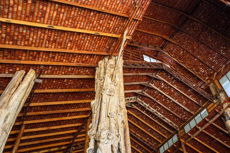 roof structure: Wooden roof structure