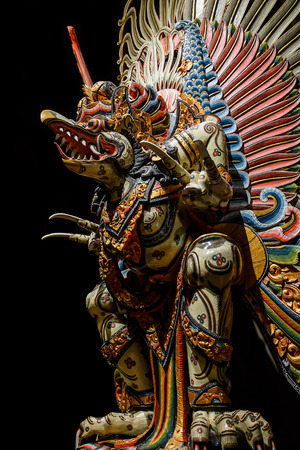 garuda: Nakhon Pathom, Thailand - May 1, 2015: Garuda statue of the Hindu. Woodland Museum In Nakhon Pathom, Thailand