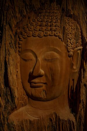 carved: Buddha carved wood