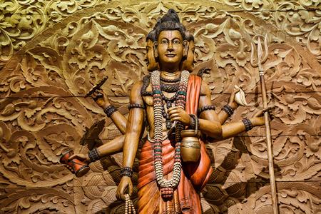 carved: Shiva carved wood