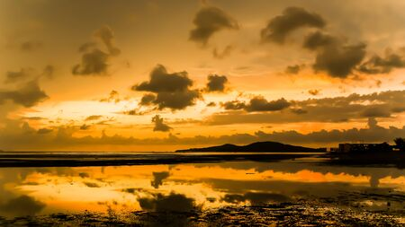 atmosphere: atmosphere at sunrise on the beach Stock Photo