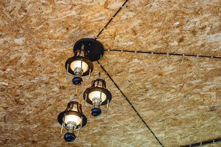 new construction: Recessed ceiling lights in room