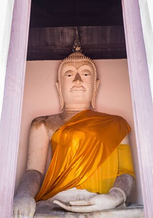 definitive: The ancient Buddha over 500 years is full of spirit and attractive for Thai people to worship at Putthaisawan temple  in Ayutthaya,Thailand