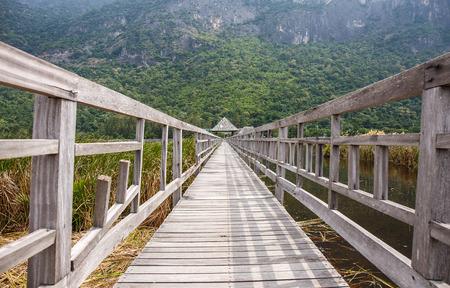 floating bridge: Khao Sam Roi Yod National Park, Thailand. Stock Photo