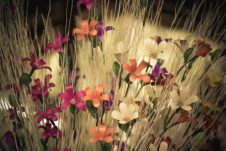 artificial flower: Colorful artificial flower