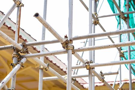 andamio: andamios de acero Foto de archivo