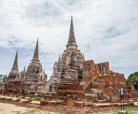 unesco world cultural heritage: Wat Sri Sanphet landmark cultural organization UNESCO, which was registered as a World Heritage Ayutthaya, Thailand.