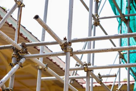 andamios: andamios de acero Foto de archivo