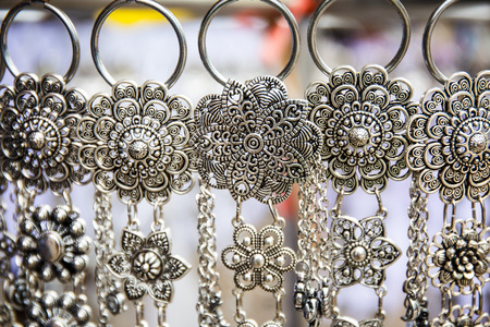 silver jewelry: Jewelry made of silver