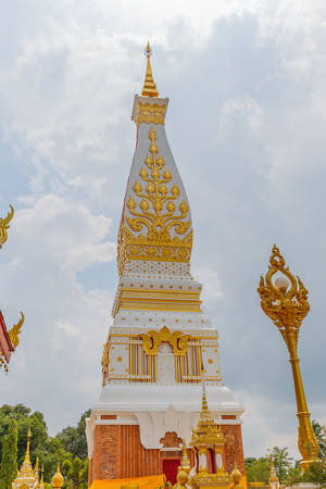 northeastern: Nakhon Phanom, Thailand - May 28,2016: Wat Phra That Phanom is the sacred area in the south of Nakhon Phanom province, northeastern Thailand.