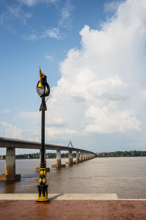 Bridge across the Mekong River in Mukdahan,Thailand