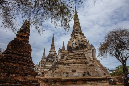 unesco world cultural heritage: Ayutthaya, Thailand -MAY 21,2016: Wat Sri Sanphet landmark cultural organization UNESCO, which was registered as a World Heritage Ayutthaya, Thailand. Editorial