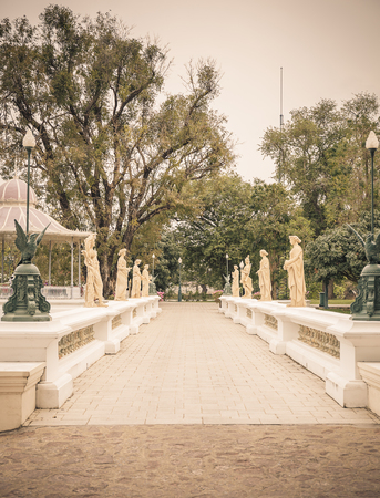 annals: Human sculpture Pa-in Palace, Imperial Palace, also known as the Summer Palace is beautiful, and is one of Thailands major tourist attractions. Editorial
