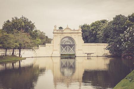 grand pa: beautiful floodgate at Bang Pa-In Palace Thailand