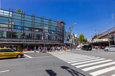 TOKYO , JAPAN - May 2 ,2017:Harajuku Street area as a major commercial facility in Tokyo.