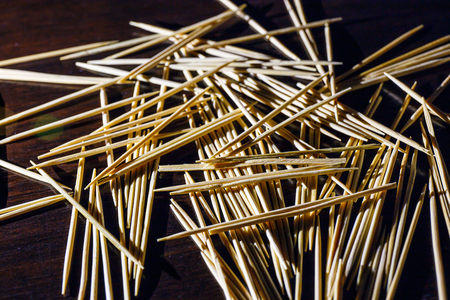 toothpick: wooden toothpicks on the  table texture