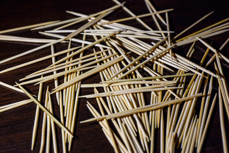 wooden toothpicks on the  table texture