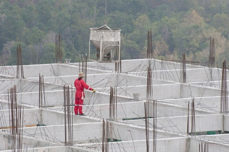 man work in construction site photo