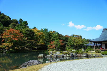 Tenryuji is the most important temple in Kyoto Stock Photo