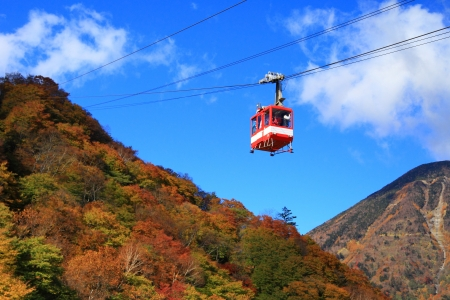 Akechi-daira is the best viewpoint of the great and wonderful nature of Nikko.  Stock Photo