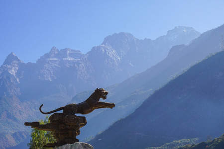 tributary: Tiger Leaping Gorge is a scenic canyon on the Jinsha River, a primary tributary of the upper Yangtze River.