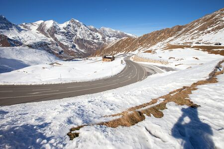 Grossglockner road before winter time. The Grossglockner is, at 3,798 metres above the Adriatic, the highest mountain of Austria