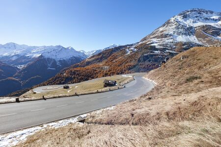 grossglockner: Grossglockner road before winter time. The Grossglockner is, at 3,798 metres above the Adriatic, the highest mountain of Austria