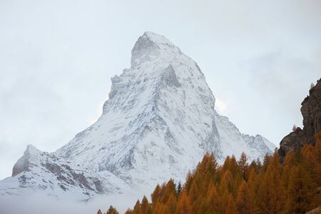 The Matterhorn,Switzerland. View Of Matterhorn In Swiss Alps. Shot from the Zermatt side on a beautifully day.