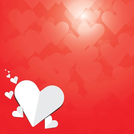Heart love valentine vector background bokeh.Happy Valentines Day Card Design. 14 February. Vector Blurred Soft Background. Illustration