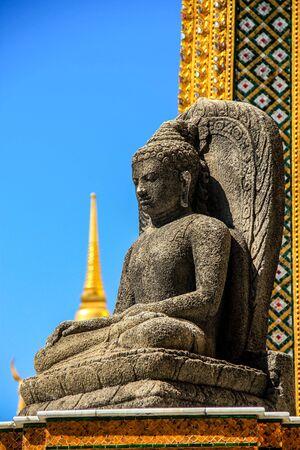 Buddha statue in a temple in bangkok