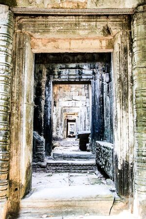 Ruins of a temple in the jungle near Angkor Wat