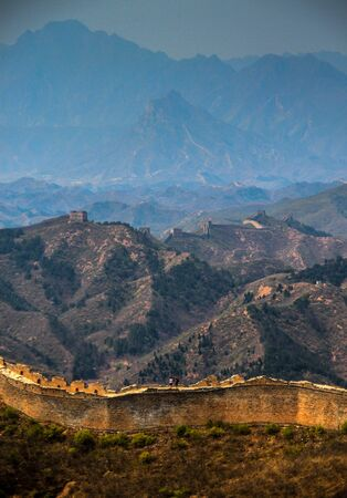 The Great Wall of China. A remote and non touristic part ot the great wall heritage, asia