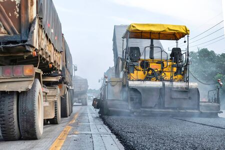Road was supplemented with asphaltic in Thailand