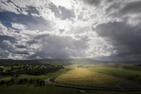 Storm approaches to Stirling, dramatic sky, amazing light Banco de Imagens